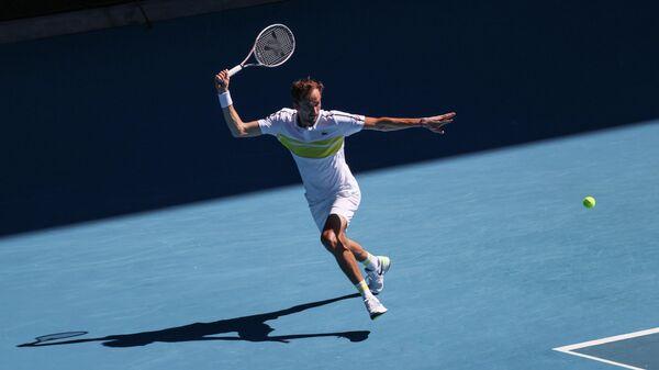 Даниил Медведев в четвертьфинальном матче Открытого чемпионата Австралии 2021 (Australian Open 2021)