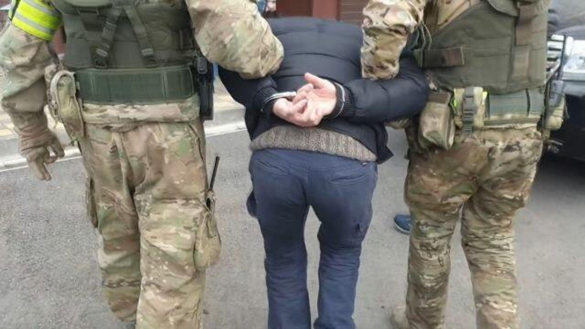 Спецоперация по задержанию 19 исламистов. Съемка ФСБ - РИА Новости, 1920, 17.02.2021