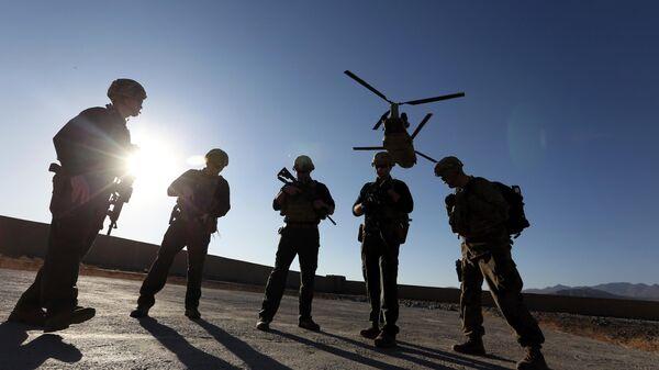 Американские солдаты в провинции Логар, Афганистан.