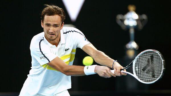Даниил Медведев (Россия) в полуфинальном матче Открытого чемпионата Австралии 2021 (Australian Open 2021