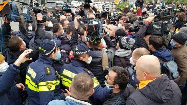 Задержания на акции в центре Тбилиси
