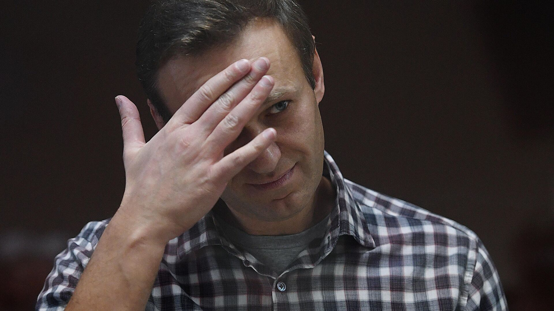 Алексей Навальный в зале Бабушкинского районного суда - РИА Новости, 1920, 08.04.2021
