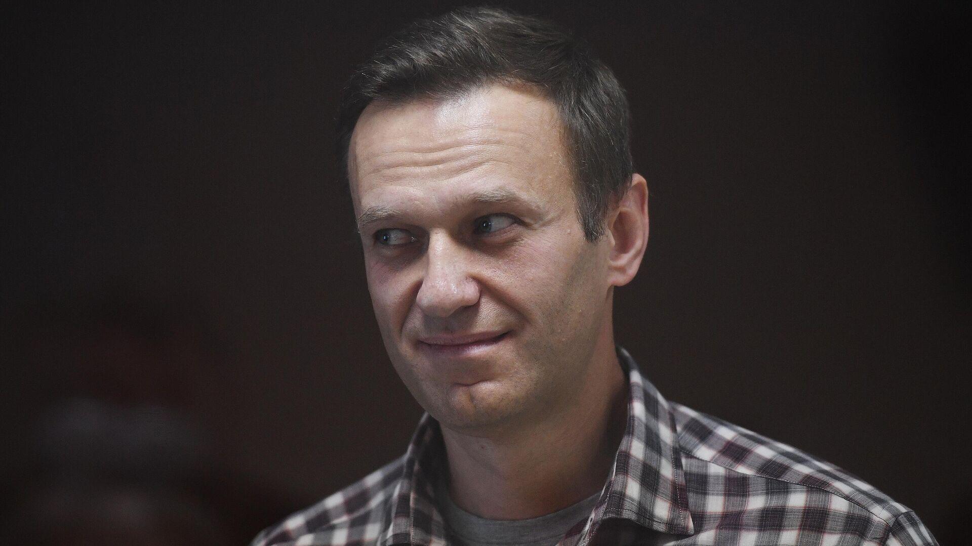 Алексей Навальный в зале Бабушкинского районного суда - РИА Новости, 1920, 27.02.2021