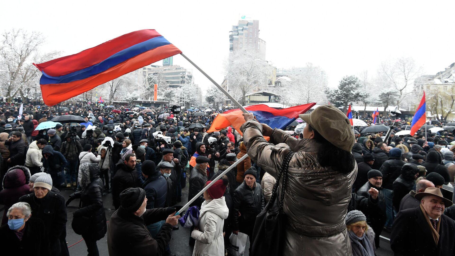 Акция протеста оппозиции в Ереване - РИА Новости, 1920, 23.02.2021