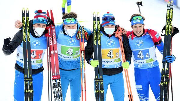 Карим Халили, Матвей Елисеев, Александр Логинов и Эдуард Латыпов (слева направо)