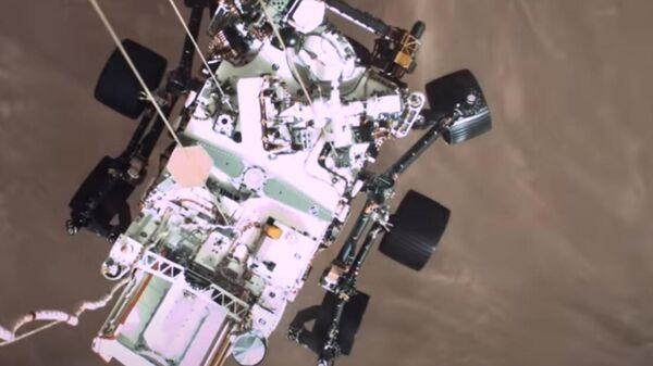 Видео посадки на Марс новейшего ровера Perseverance