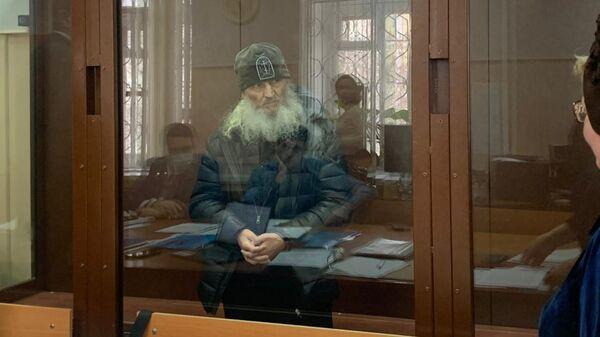 Экс-схиигумен Сергий (Николай Романов) во время рассмотрения ходатайства следствия об избрании меры пресечения в Басманном суде Москвы
