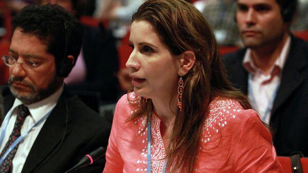 Глава дипмиссии Венесуэлы в ЕС Клаудиа Салерно Кальдера