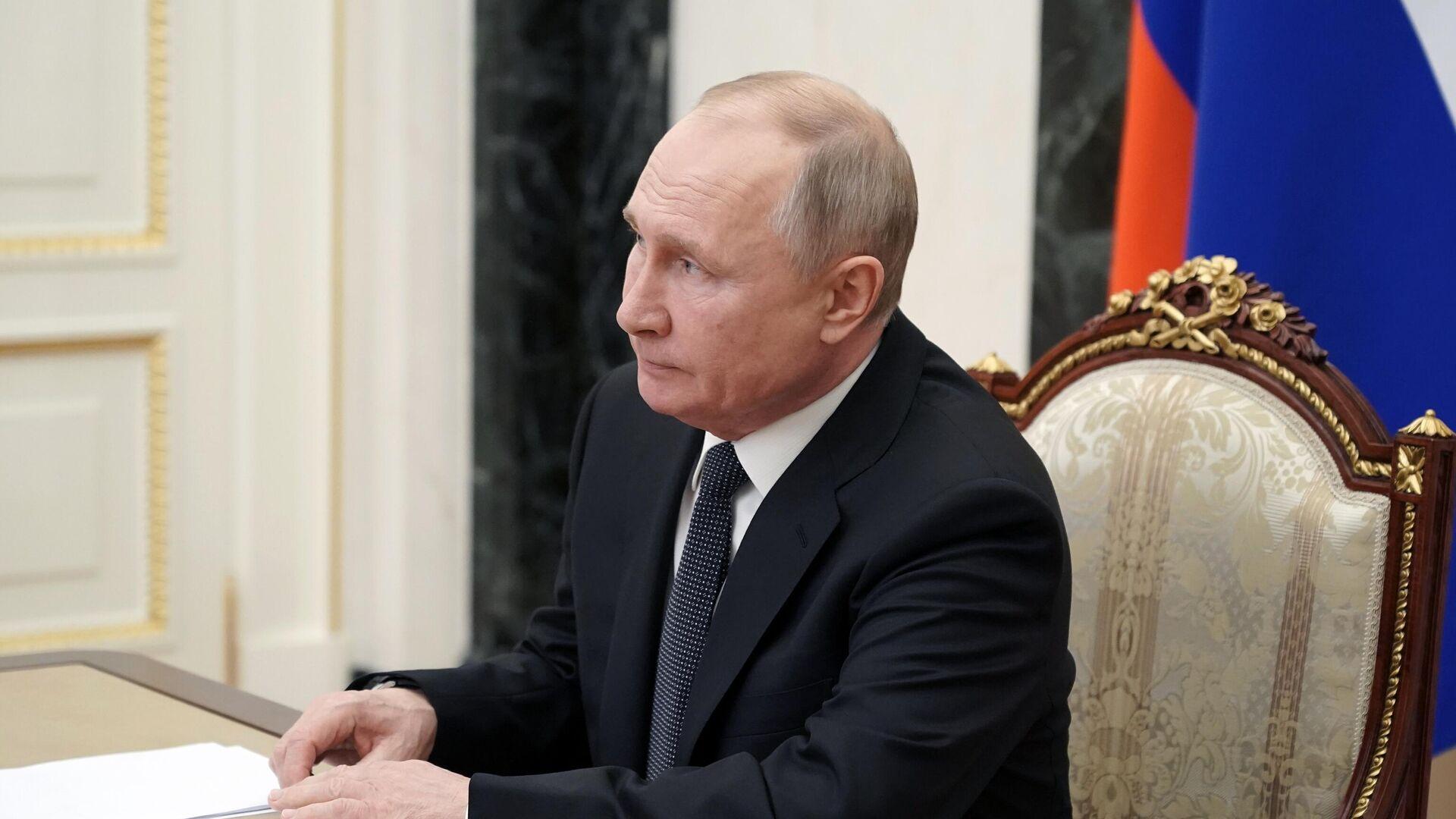 Президент РФ В. Путин провел заседание Совбеза РФ - РИА Новости, 1920, 03.03.2021