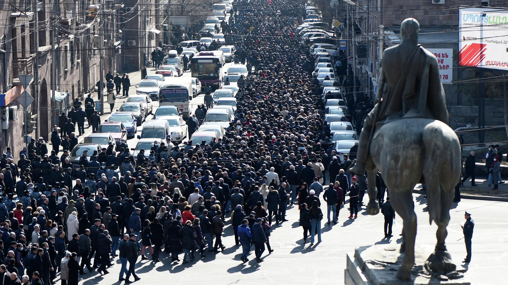 Митинг оппозиции в Ереване  - РИА Новости, 1920, 27.02.2021