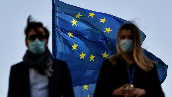 Флаг ЕС в Брюсселе
