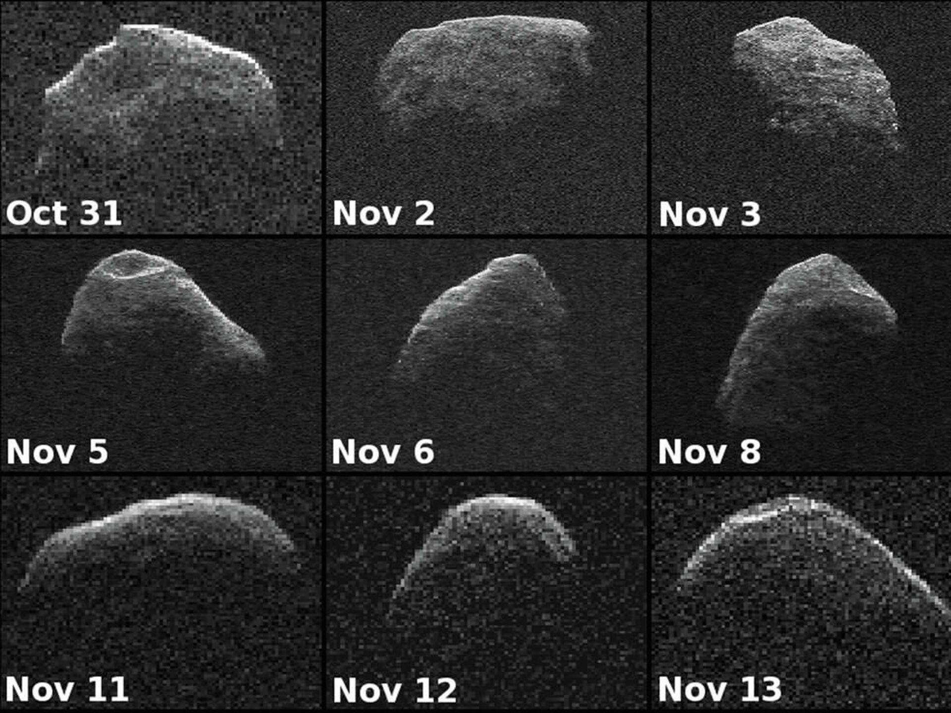 Фотографии Апофиса, полученные телескопами NASA с 31 октября по 13 ноября 2012 года - РИА Новости, 1920, 04.03.2021