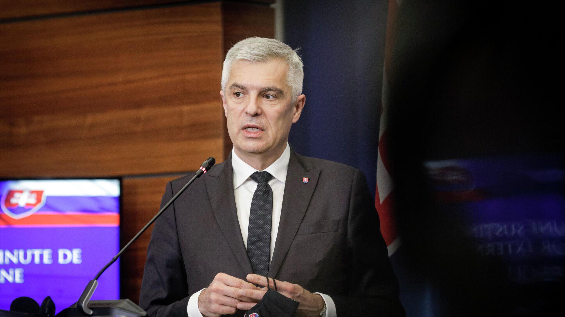 Министр иностранных и европейских дел Словакии Иван Корчок - РИА Новости, 1920, 04.03.2021