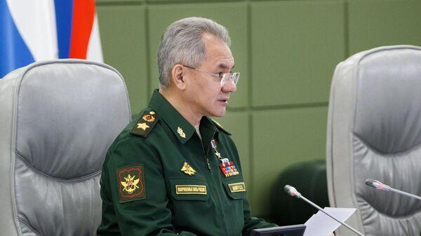 Министр обороны РФ Сергей Шойгу проводит селекторное совещание в Национальном центре управления обороной РФ