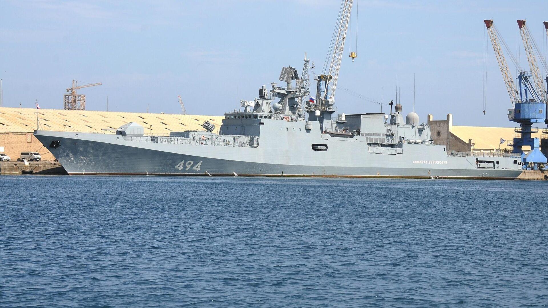 Российский боевой корабль Адмирал Григорович в Порт-Судане - РИА Новости, 1920, 12.07.2021
