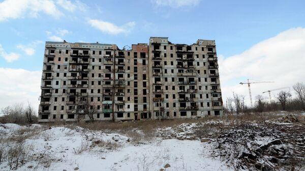 Дом на улице Взлетной в Донецке, разрушенный в ходе боевых действий в 2014-2015 годы