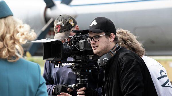 Актер Александр Домогаров (младший) на съемках фильма Пальма
