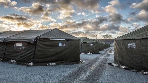 Лагерь беженцев в 100 км от Копенгагена, Дания