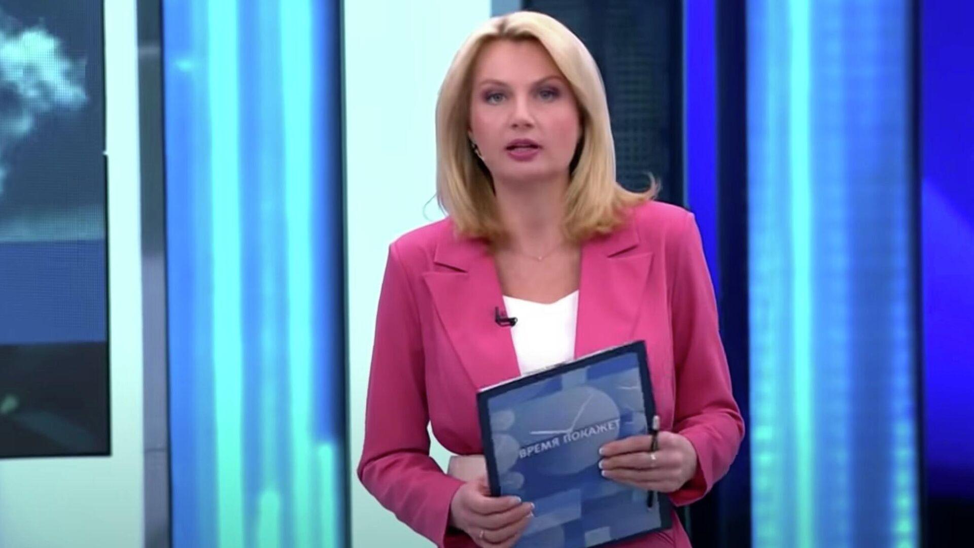 Российская ведущая перешла на немецкий, чтобы успокоить гостей шоу