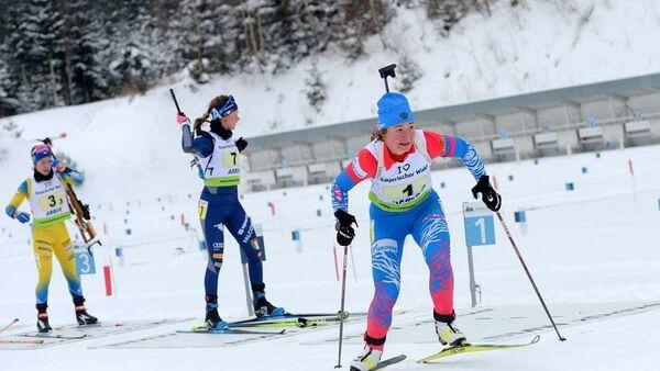 Российская биатлонистка Анастасия Шевченко