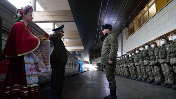Военнослужащие десантных войск, прибывшие в Белоруссию для учений