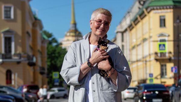 Татьяна с любимой собакой Кристмас в Санкт-Петербурге
