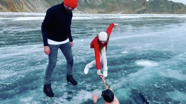 Скриншот видео из Instagram-аккаунта Татьяны Навки