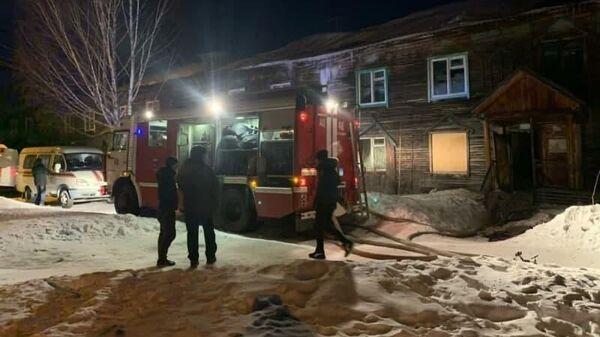 Пожар в многоквартирном доме в городе Лесосибирск Красноярского края