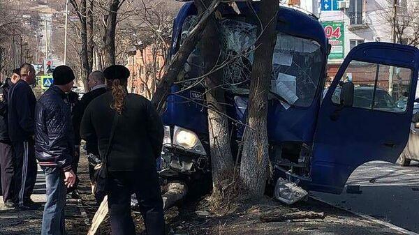 ДТП с автобусом в Находке, Приморский край