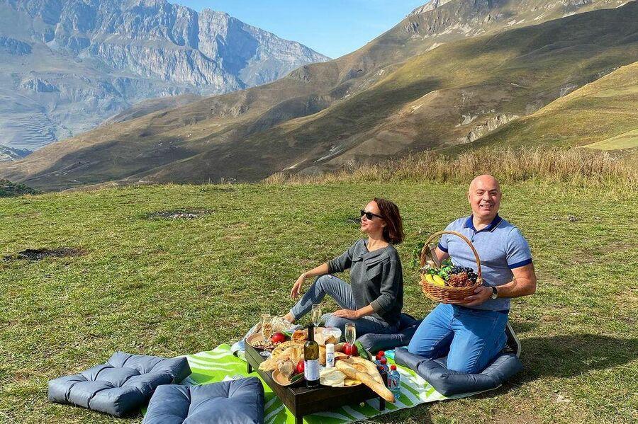 Михаил и Евгения Грушевские в Северной Осетии