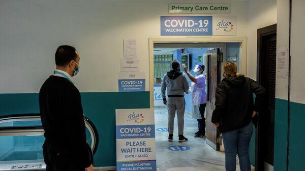 Центр вакцинации от коронавируса в Гибралтаре