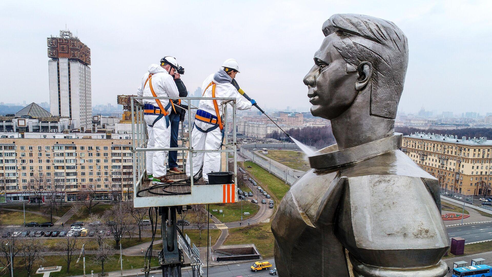В Москве отреставрируют памятник Гагарину на Ленинском проспекте