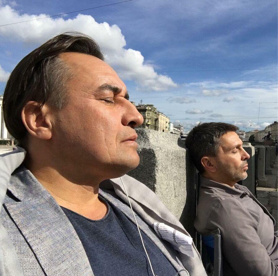 Камиль Ларин и Леонид Барац в Санкт-Петербурге