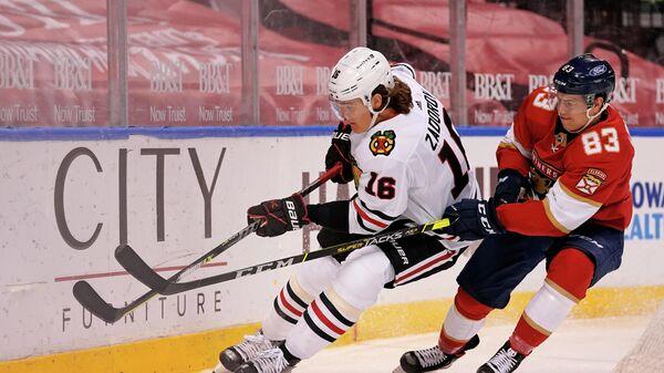 Никита Задоров в матче НХЛ.