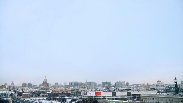 Вид на центр Москвы со стороны Парка Горького