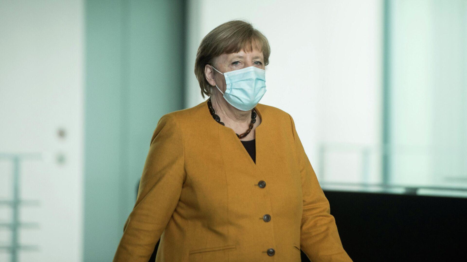 Канцлер Германии Ангела Меркель в Берлине. 24 марта 2021  - РИА Новости, 1920, 31.03.2021