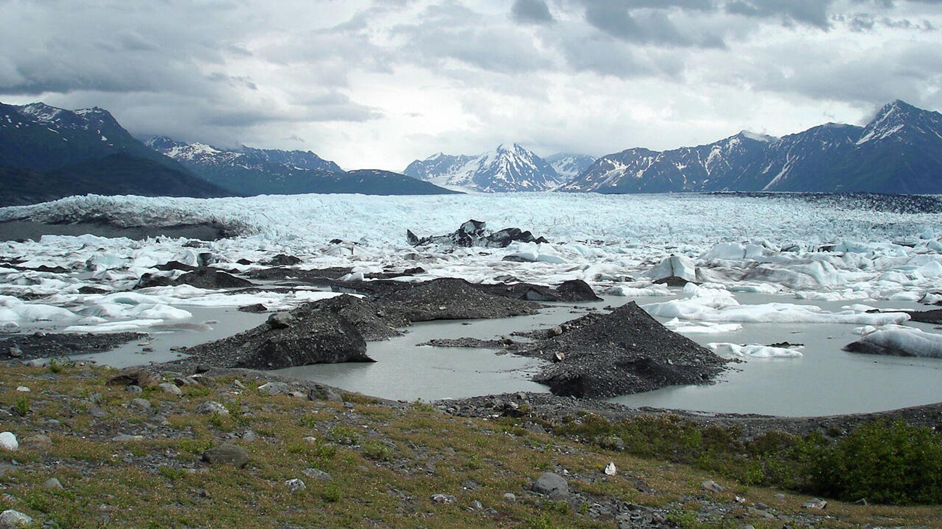 Вид на ледник Кник, Аляска - РИА Новости, 1920, 29.07.2021