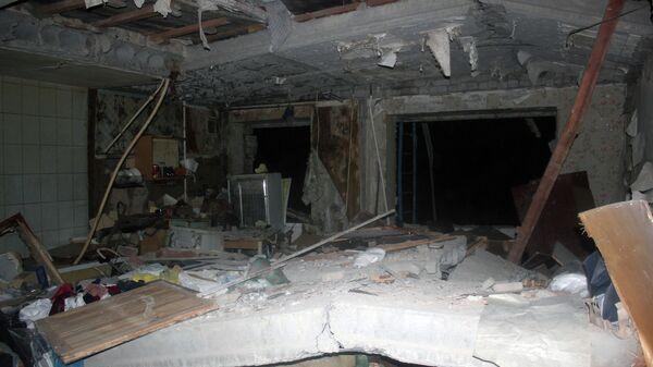 На месте взрыва газа в жилом доме в Зеленодольске, Татарстан