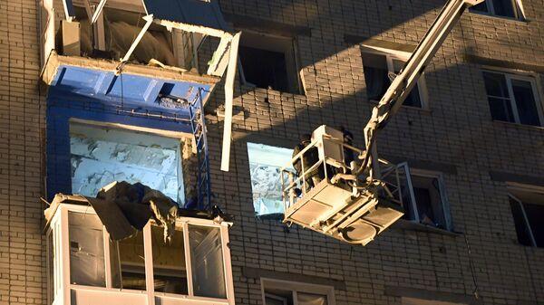 Место взрыва газа в многоквартирном доме по улице Ленина в Зеленодольске