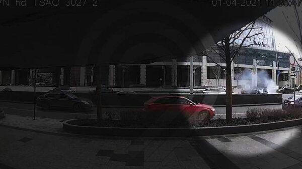 Момент ДТП на Садовом кольце. Кадры с камеры Дептранса