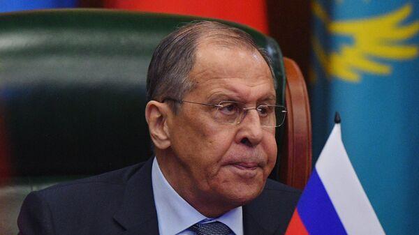 Министр иностранных дел России Сергей Лавров принимает участие в заседании Совета министров иностранных дел стран  СНГ