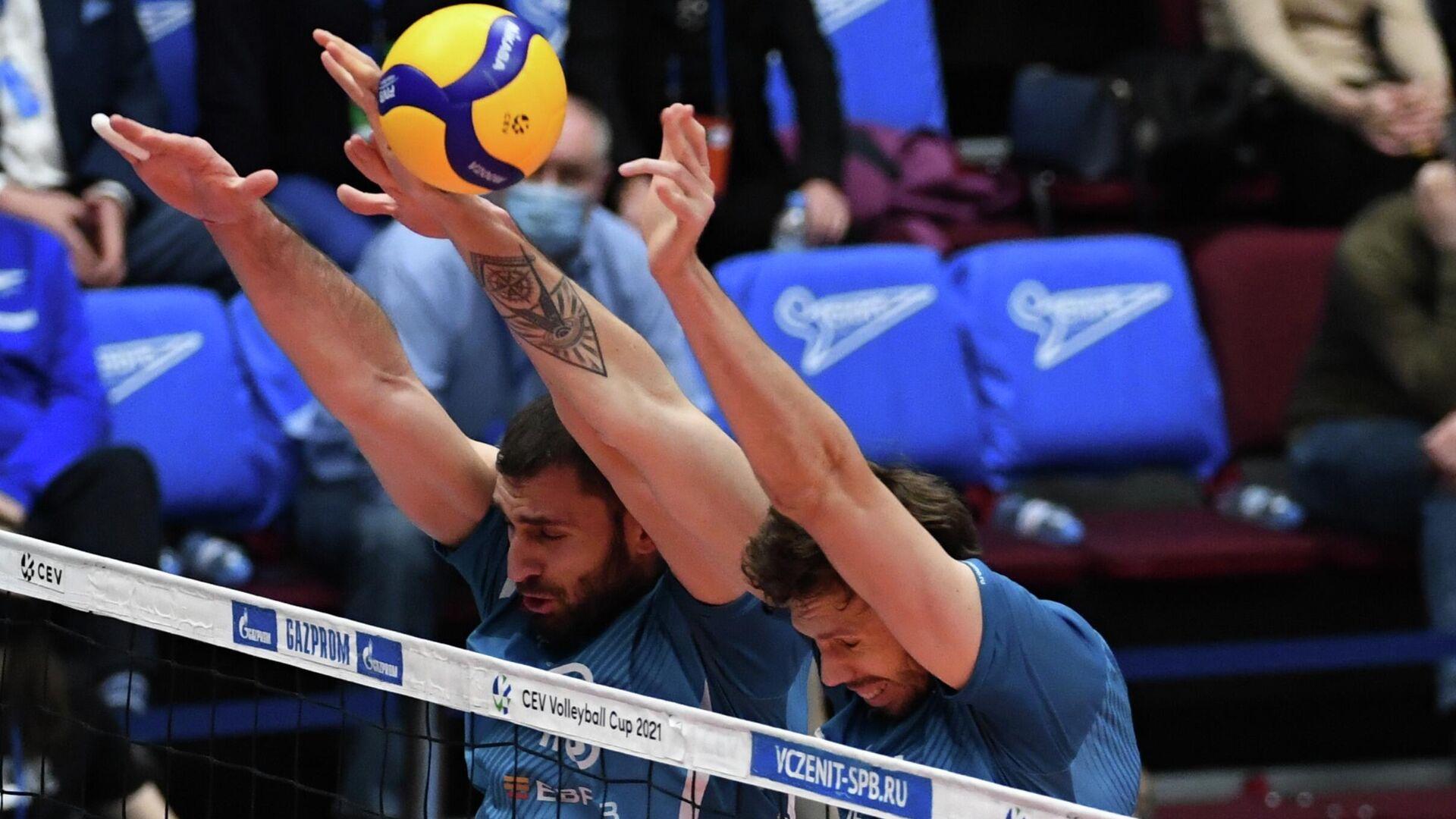 Игрок ВК Динамо Цветан Соколов (слева) - РИА Новости, 1920, 05.04.2021