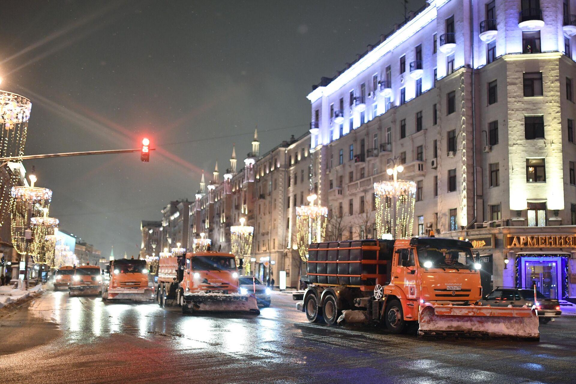 Снегопад в Москве - РИА Новости, 1920, 05.04.2021
