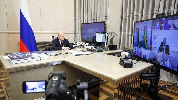 Председатель правительства РФ Михаил Мишустин проводит заседание совета по борьбе с распространением коронавируса