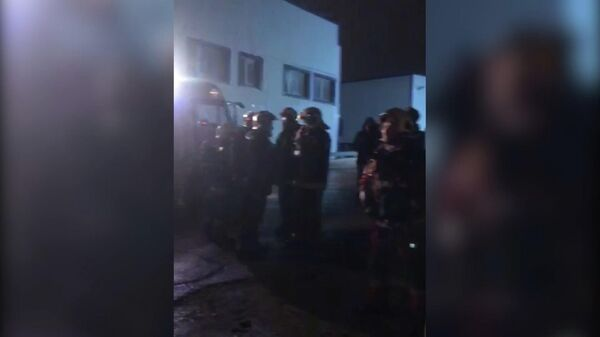 Ликвидация пожара на складах в подмосковных Люберцах