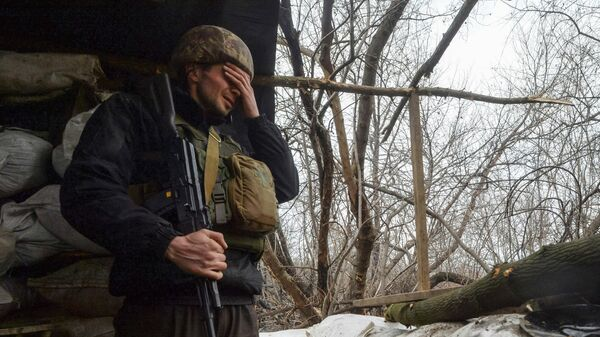 Украинский военный в Луганской области