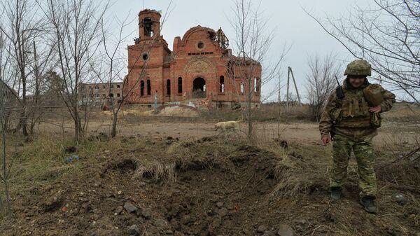 Украинский военный в Донецкой области