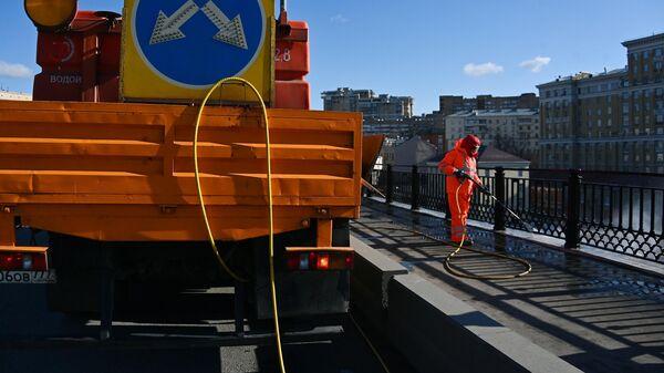 Промывка Большого Краснохолмского моста