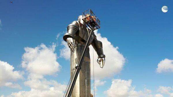 Весенняя промывка: памятник Юрию Гагарину подготовили ко Дню космонавтики