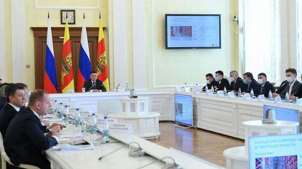 Губернатор области Игорь Руденя на заседании Совета по инвестиционной политике и развитию предпринимательства Верхневолжья
